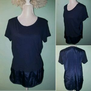 J Crew blouse womens medium M blue cotton